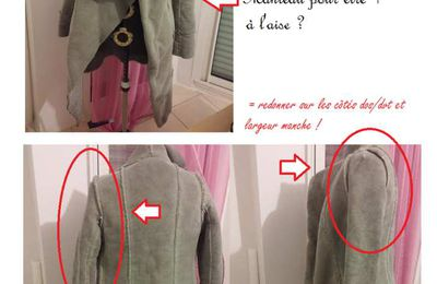 FAQ : comment élargir manche et emmanchures sur ce manteau?pour Danielle SG.