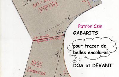 Patron Csm : Gabarits Encolures Basiques.
