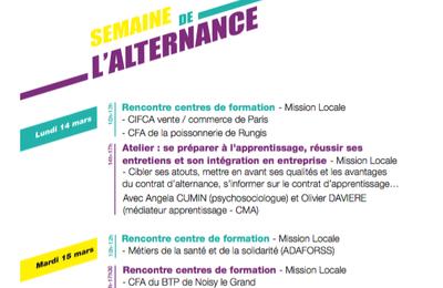 Semaine de l'alternance à Aulnay-sous-Bois du 14 au 18 mars 2016