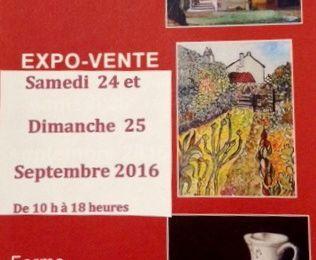Expo-vente de l'APSA les 24 et 25 septembre 2016 à la Ferme du Vieux-Pays à Aulnay-sous-Bois