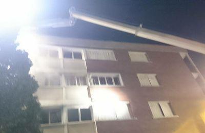 Incendie cette nuit dans un immeuble de la cité Balagny à Aulnay-sous-Bois