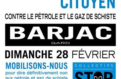 Gaz de schiste en Ardèche-Gard et Drôme : le 28 février à Barjac