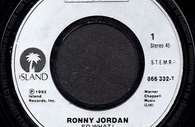 Ronny Jordan - So what !  / Cool and funky - 1992