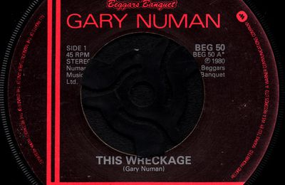 Gary Numan - This wreckage / Photograph - 1980
