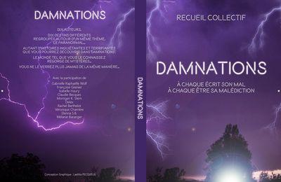BOUTIQUE : VENTE LIVRE PAPIER / DAMNATIONS recueil de nouvelles genre paranormal auto-publication