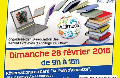 L'APE du collège Paul Duez organise sa bourse aux livres et multimédia le 28 février