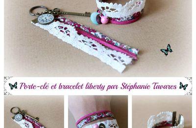 Ensemble porte-clé et bracelet liberty