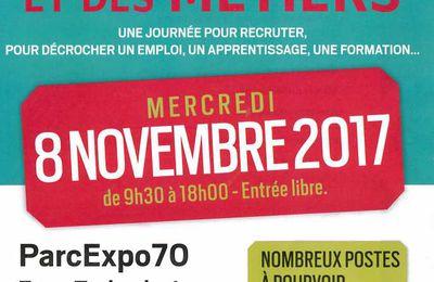 Forum de l'emploi et des métiers le 8 novembre