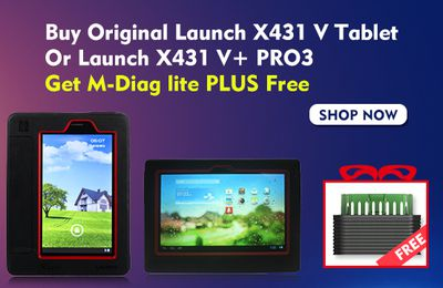 Buy Launch X431 V Or X431 V+ Pro, Get Free M-DIAG scanner as gift