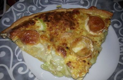 quiche jambon-courgettes