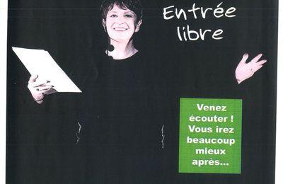 """5/10/16 """"Nuit d'enfer"""", One-Woman-Show Villers-Semeuse"""