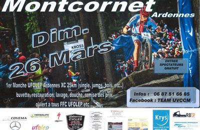 Montcornet : 1er Manche UFOLEP Ardennes le 26/03/2017