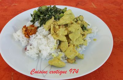CARI DE POULET COCO CURRY