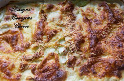 Lasagnes courgette/chèvre