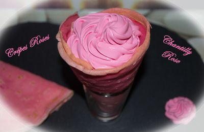 Crêpes Roses et Chantilly
