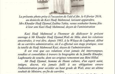 Dédicace du dernier ouvrage de hadj Mahmoud Kazi