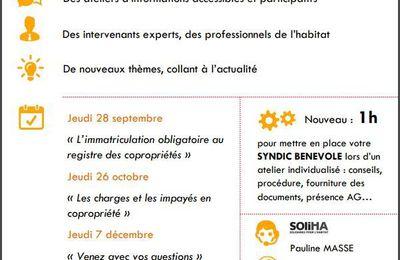 Programmation des ateliers copropriété - 2è semestre 2017 à Saint-Nazaire