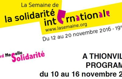 Semaine de Solidarité Internationale à Thionville