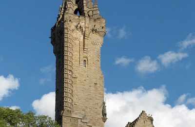 "Ecosse, Stirling: ""Monument National dédié à William Wallace"", le héros."