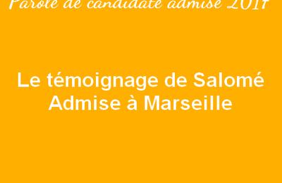 Le témoignage de Salomé – Admise à Marseille