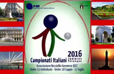 Vidéo du Championnat de Pétanque Juniors d'ITALIE 2016