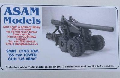Canon Long Tom 155 mm au 1/48 de chez ASAM Models (par Dominique B.)