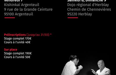 Hino Akira senseï à Paris, 7 au 9 avril