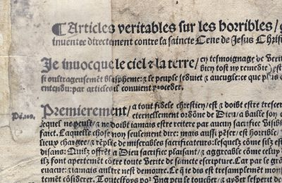 18 octobre 1534  - L'Affaire des « placards »