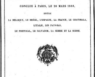 20 mars 1883 - Convention de Paris