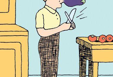 La parmigiana d'aubergines d'Erri De Luca, plat de fête de cuisine modeste, reposé, sage, gisement de 4 couleurs séparées qui feront alliance au four… Ce n'est pas une recette, mais un tout petit acte d'héritier
