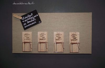 Créer un pense bête avec des tapettes à souris !