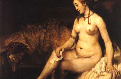 Rembrandt - Bethsabée au bain tenant la lettre de David