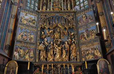 Cracovie - Eglise Sainte-Marie - Le Grand retable de Veit Stoss,