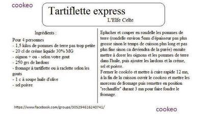 Cuisson des p tes ou des spaghettis au cookeo recettes faciles et rapides - Temps de cuisson tartiflette ...