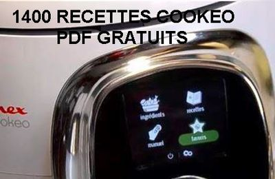 1400 Recettes au cookeo : un PDF gratuit à télécharger