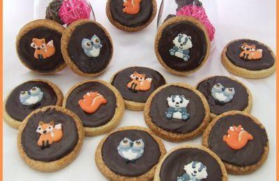 Biscuits chocolatés animaux des bois...