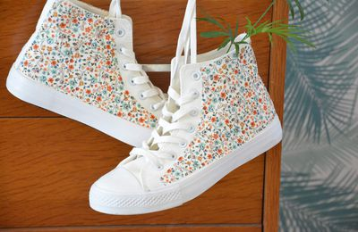 Custo mode : je relooke mes baskets avec du Liberty !!!
