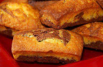 Mini-marbrés au chocolat comme des savanes