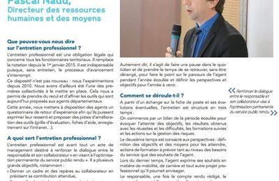 """""""Renforcer le dialogue entre le responsable et son collaborateur vise à l'optimisation permanente du service public rendu"""" Pascal NAUD"""