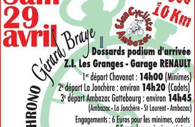 Samedi, Chrono Gérard Braye à Ambazac
