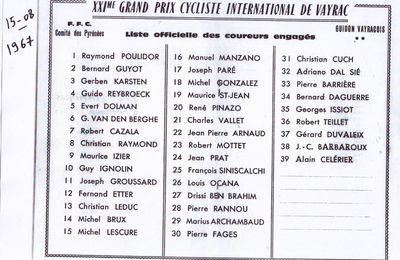 Critérium de Vayrac 1967