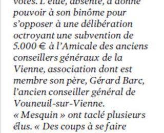 Jean - Michel Faitchier fact 007 : l'argent public au service des élu(e)s