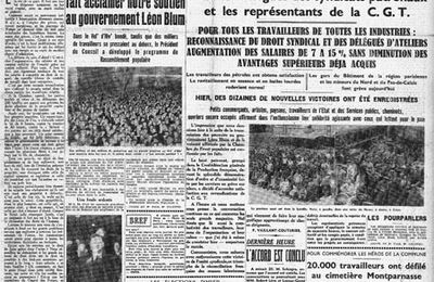 8 Juin 1936 : signature des Accords Matignon