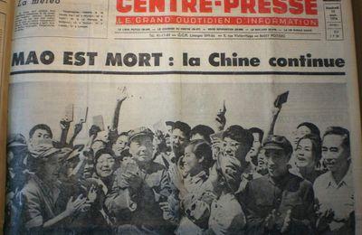 """9 Septembre 1976 : mort de Mao """"phare de la pensée mondiale"""""""