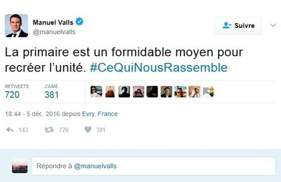 Manuel Valls project : Faire battre la rancoeur de Hamon