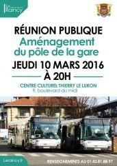 réunion publique pôle gare du Raincy jeudi 10 mars 2016