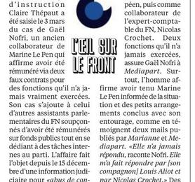 Emplois supposés fictifs : Le Pen informée ?