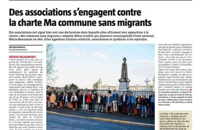 Des associations s'engagent contre la charte Ma commune sans migrants