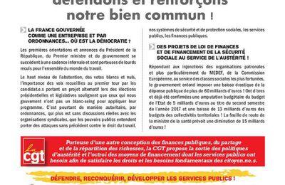 Le programme Macron : un projet de démantèlement de la protection sociale, de la santé et des services publics !