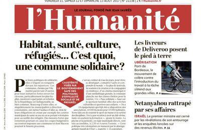 A la une de l'Humanité (11-08-17)